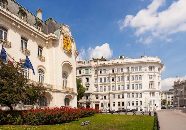 Het huis van de franse ambassade in wenen