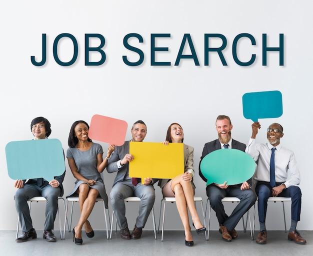 Het inhuren van carrière werkgelegenheid human resources concept