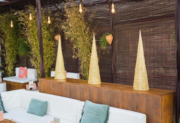 Het interieur van het koffiehuis. decor in lounge-café.