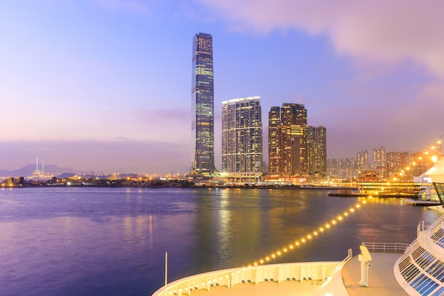 Het internationale handelscentrum in hong kong.