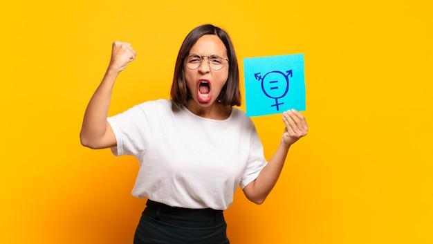 Het jonge mooie concept van de vrouwengelijkheid