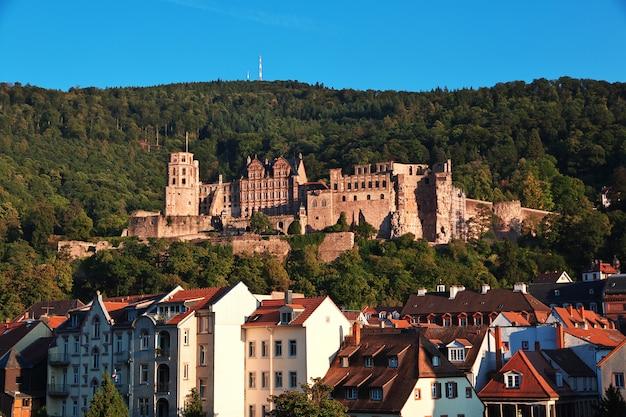 Het kasteel in heidelberg, duitsland