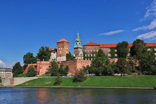 Het kasteel in krakau, polen