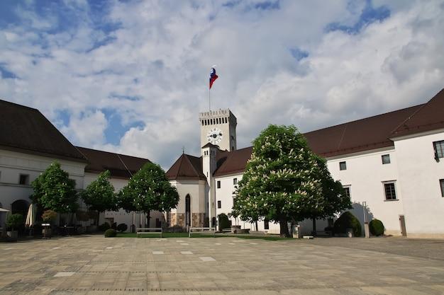 Het kasteel in ljubljana slovenië