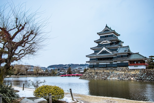 Het kasteel van matsumoto in japan