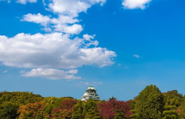 Het kasteel van osaka in de lente seizoen