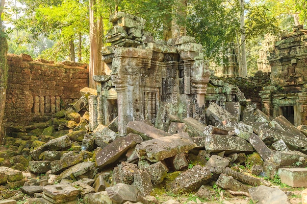 Het kasteel van ta phrom in angkor thom, cambodja