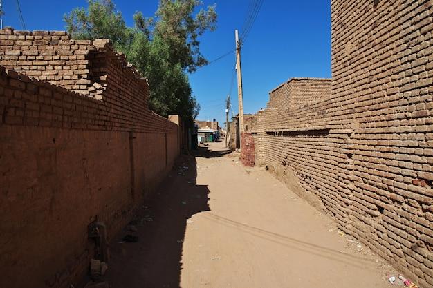 Het kleine dorp aan de rivier de nijl, khartoem, soedan