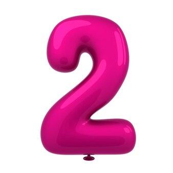 Het kleurrijke glanzende ballon aantal 3d teruggeven