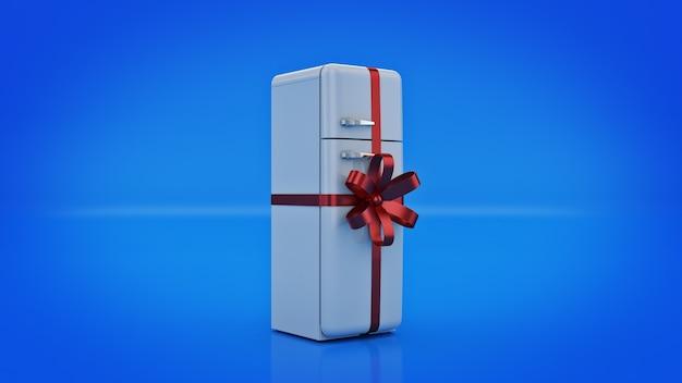 Het koelkastconcept geeft kortingen op 3d-rendering