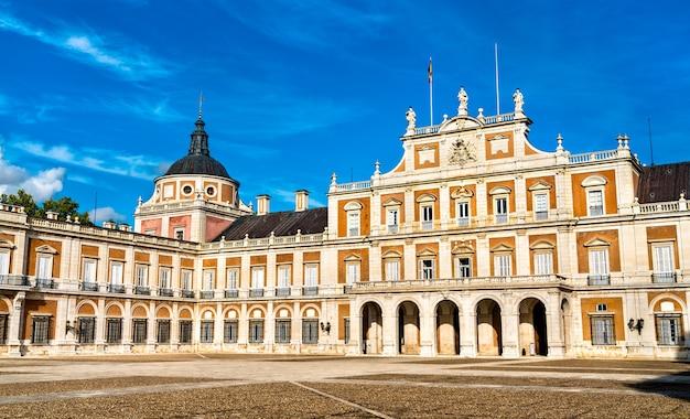 Het koninklijk paleis van aranjuez, een voormalige spaanse koninklijke residentie