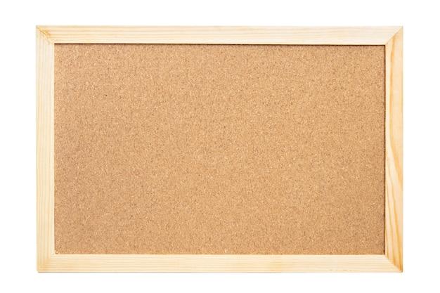 Het kurkbord op een witte achtergrond