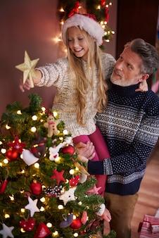 Het laatste deel van de kerstboom
