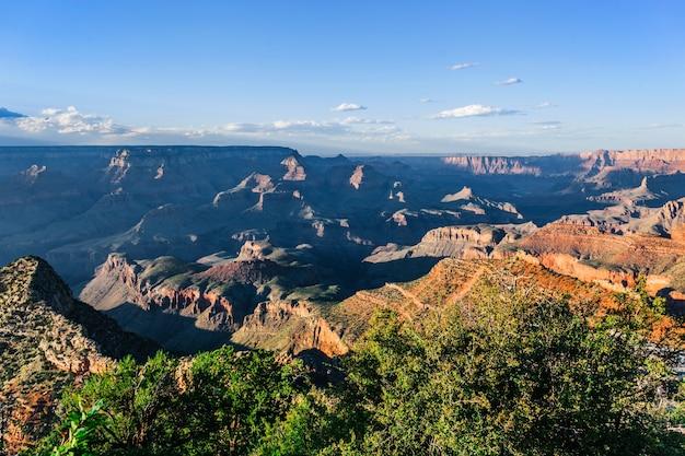Het landschap van de grand canyon in arizona, vs.