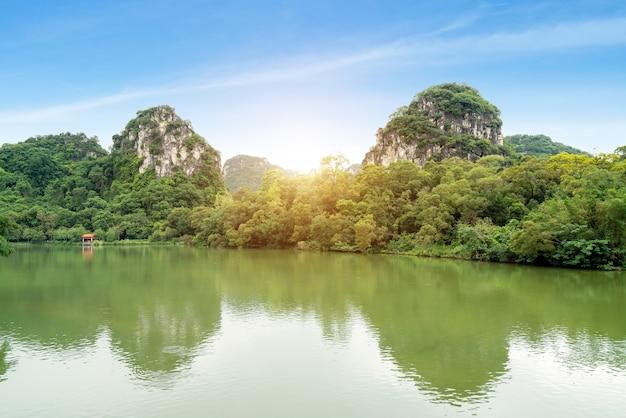 Het landschap van liuzhou, guangxi