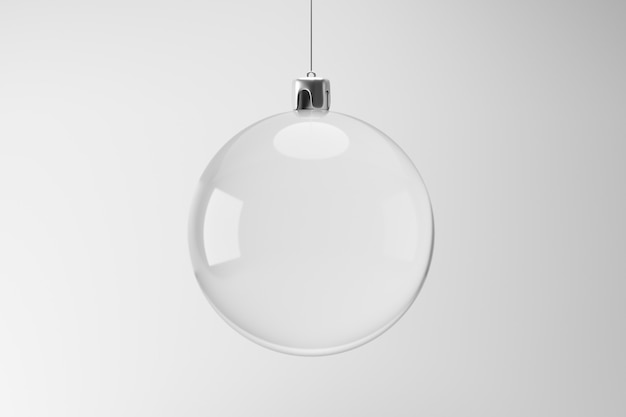 Het lege ornament hangen op witte achtergrond