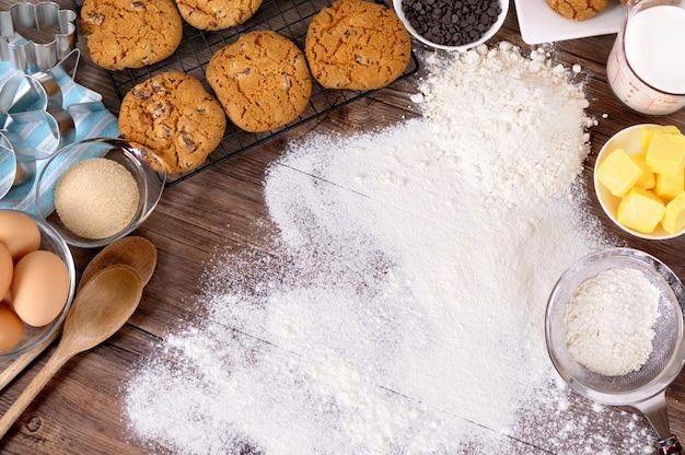 Het maken van bakkerij in de keuken