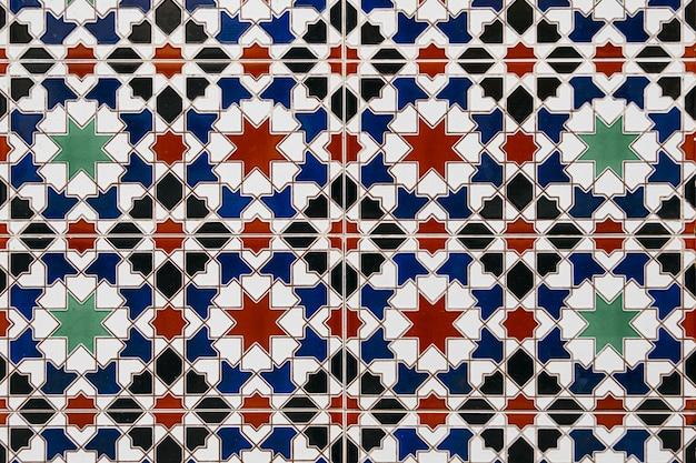 Het marokkaanse mozaïek van nice betegelt muurachtergrond