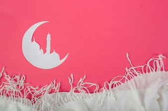 Het moslim Witboek sneed kunst voor ramadan kareem de kaart van de de vieringsgroet van de vakantie met sjaal