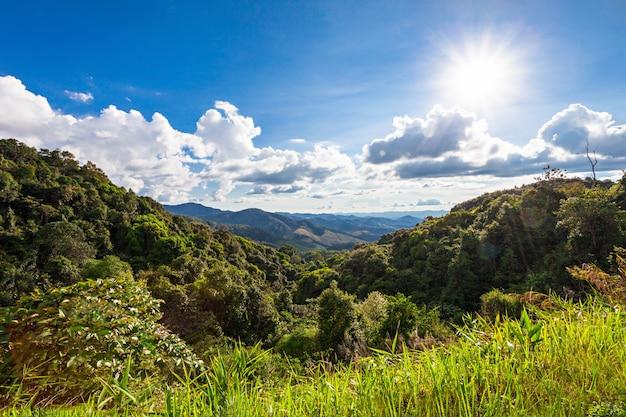 Het noordelijke landschap van thailand