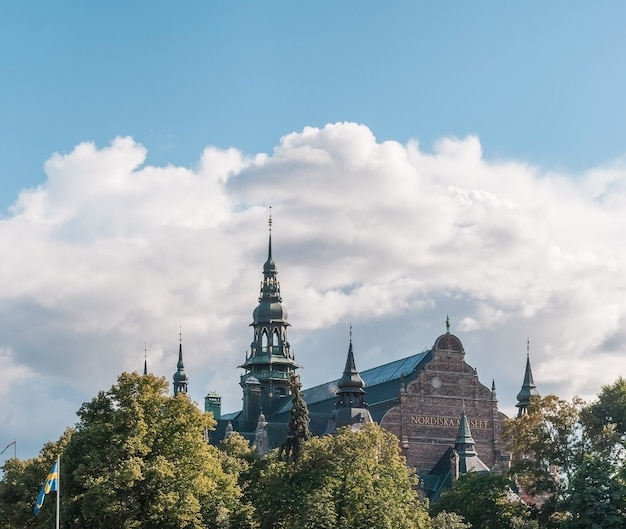 Het nordic museum voor culturele geschiedenis en etnografie, stockholm, zweden