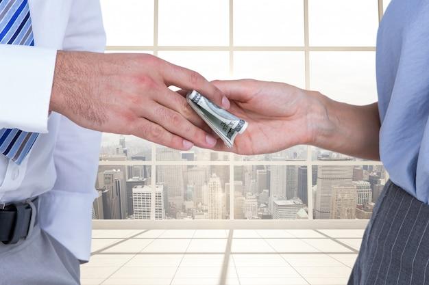 Het ontvangen van stedelijke executives collega economie