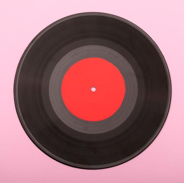 Het oppervlak van een vinylplaat