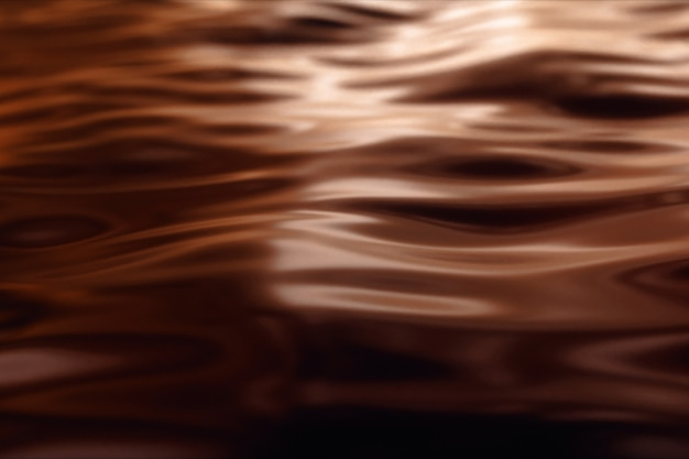 Het oppervlak van vloeibare chocolade