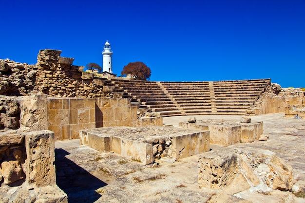 Het oude amfitheater in paphos