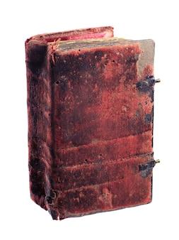 Het oude boek geïsoleerd op een witte achtergrond