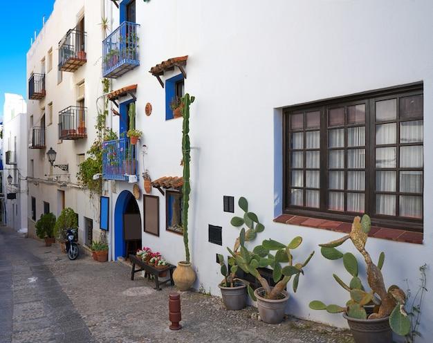 Het oude dorp van peniscola in castellon van spanje