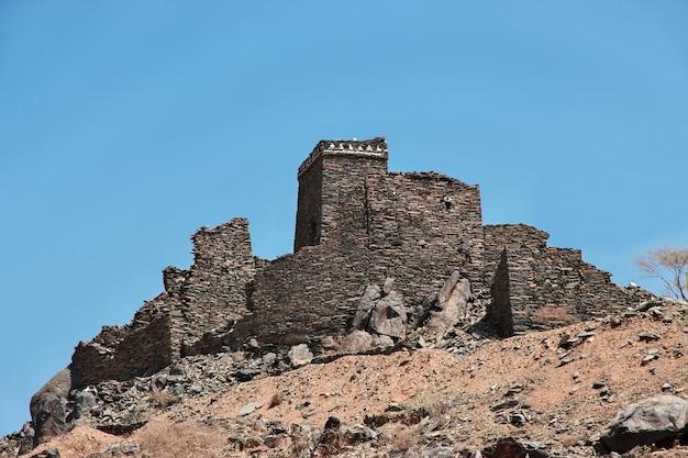 Het oude fort sluit al bahah, saoedi-arabië