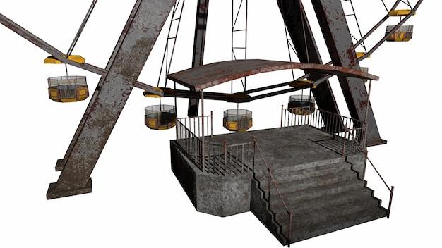 Het oude horror reuzenrad