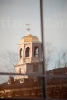Het oude huis van de staat in boston, massachusetts, de vs