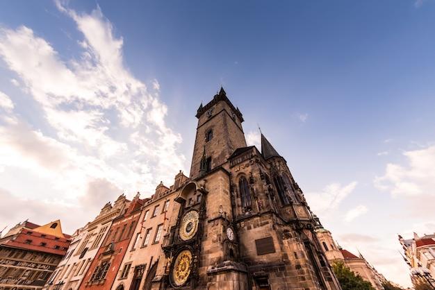 Het oude stadhuis. praag, tsjechië
