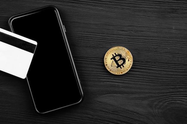 Het overboeken van de dollar van de portemonnee naar bitcoin