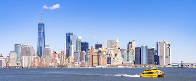 Het panorama new york van het lower manhattan