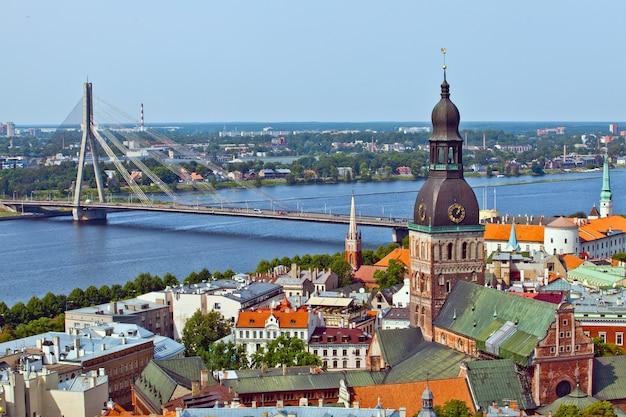 Het panoramamening van riga, letland