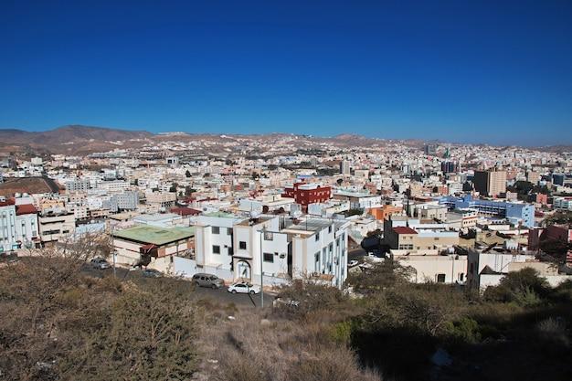 Het panoramische uitzicht over de stad abha saoedi-arabië