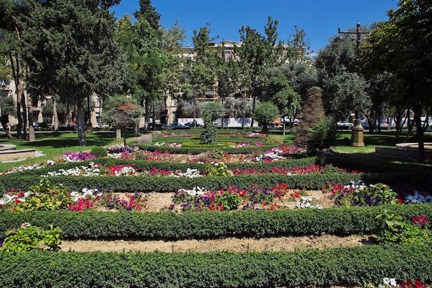 Het park in baku stad, azerbeidzjan