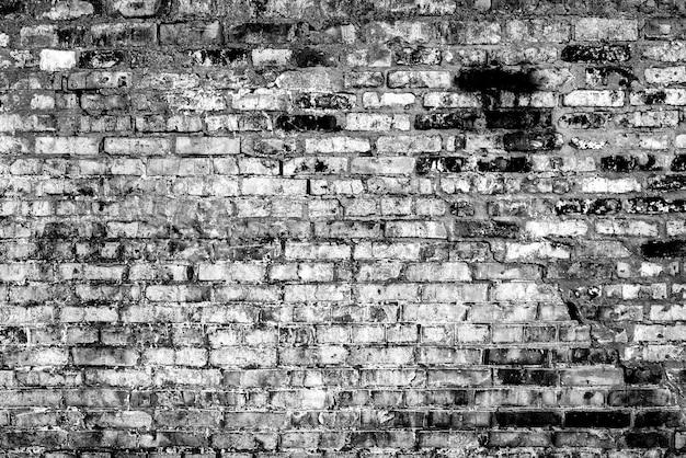 Het patroon van een bakstenen muur met scheuren en krassen achtergrond