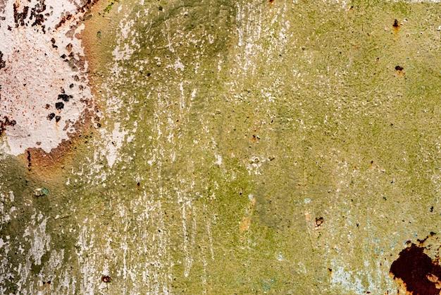 Het patroon van een metalen wand met scheuren en krassen die kunnen worden gebruikt als achtergrond