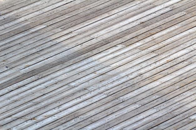Het patroon van grijze houten planken
