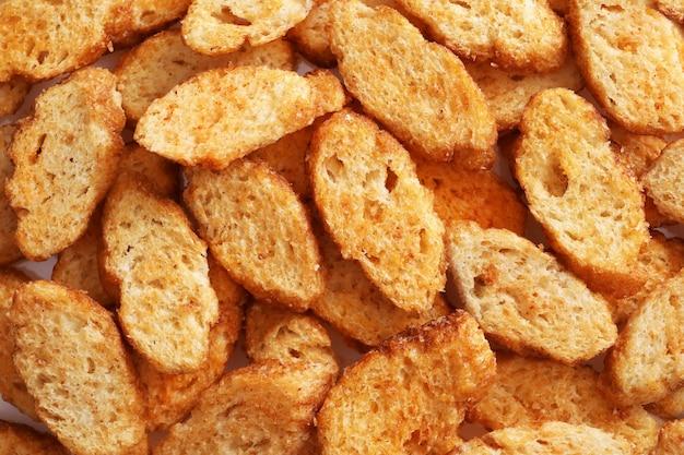 Het patroon van kleine stukjes gedroogd brood