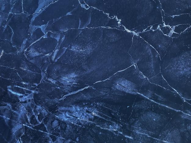 Het patroon van marineblauw marmer met lijnen, macroachtergrond Premium Foto