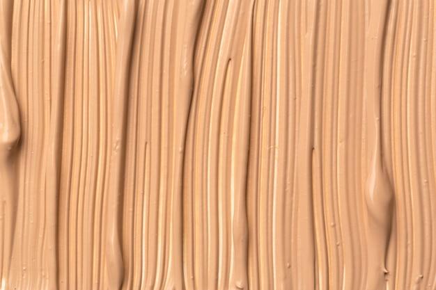 Het patroon van vloeibare foundation