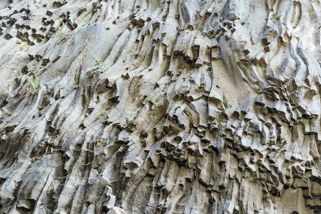 Het patroon van vulkanische steen.