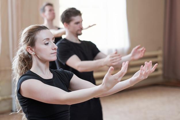 Het portret van moderne dansers