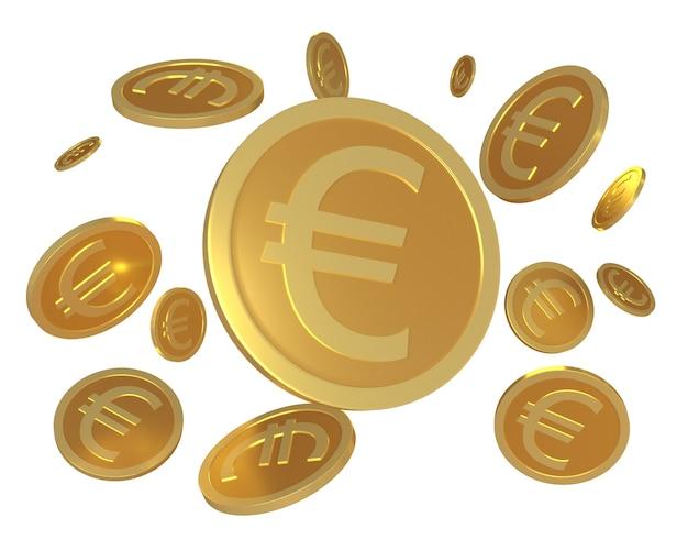 Het renderen van euromuntvaluta