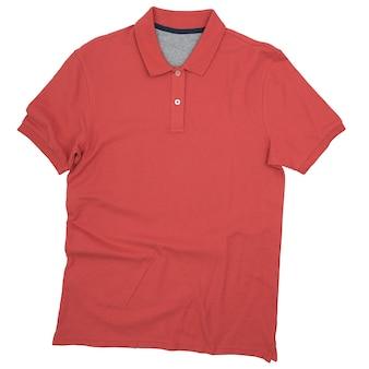 Het rode overhemd is op een witte achtergrond
